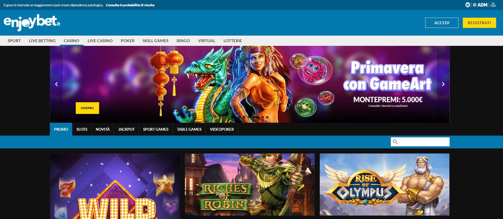 Enjoybet Homepage