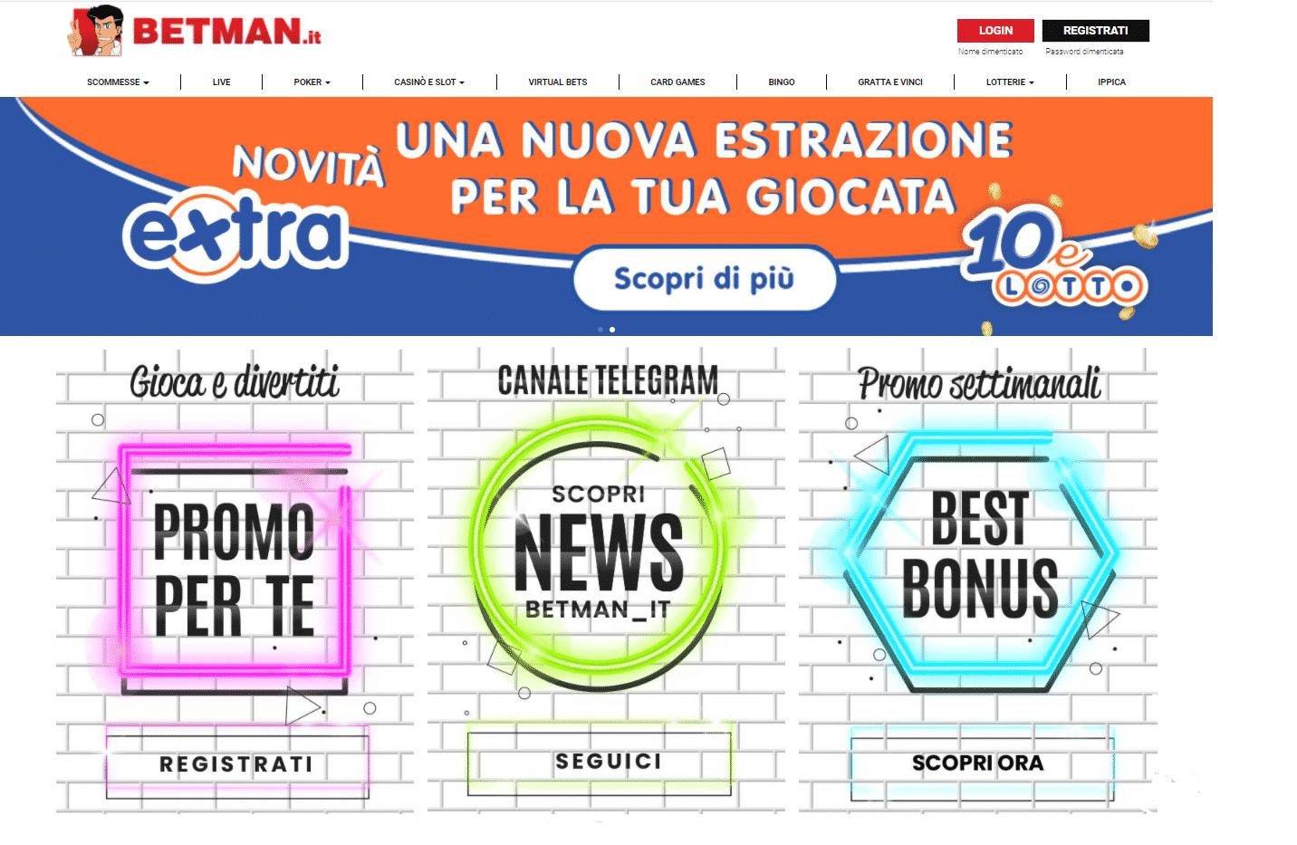 Betman Homepage
