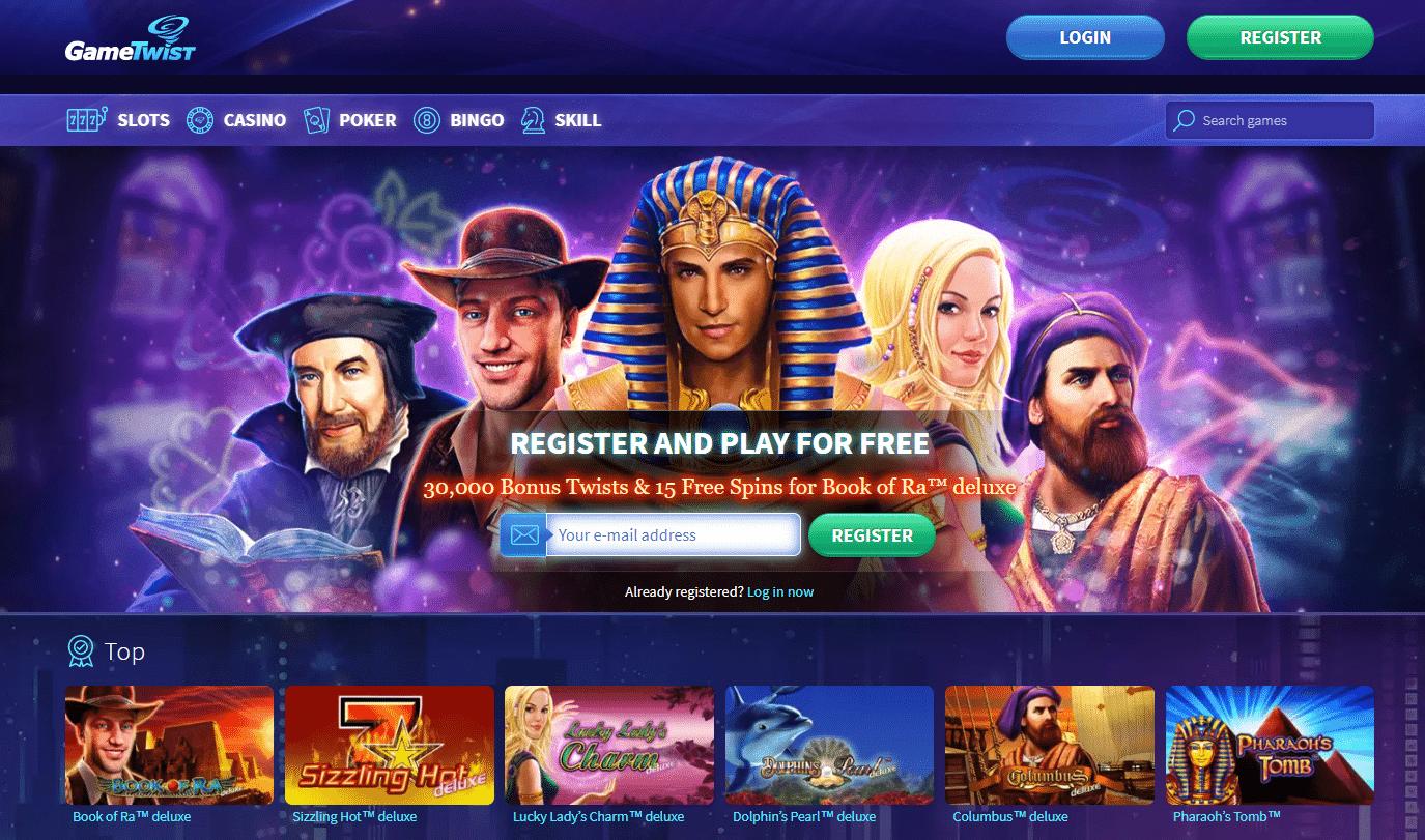 Gametwist Homepage