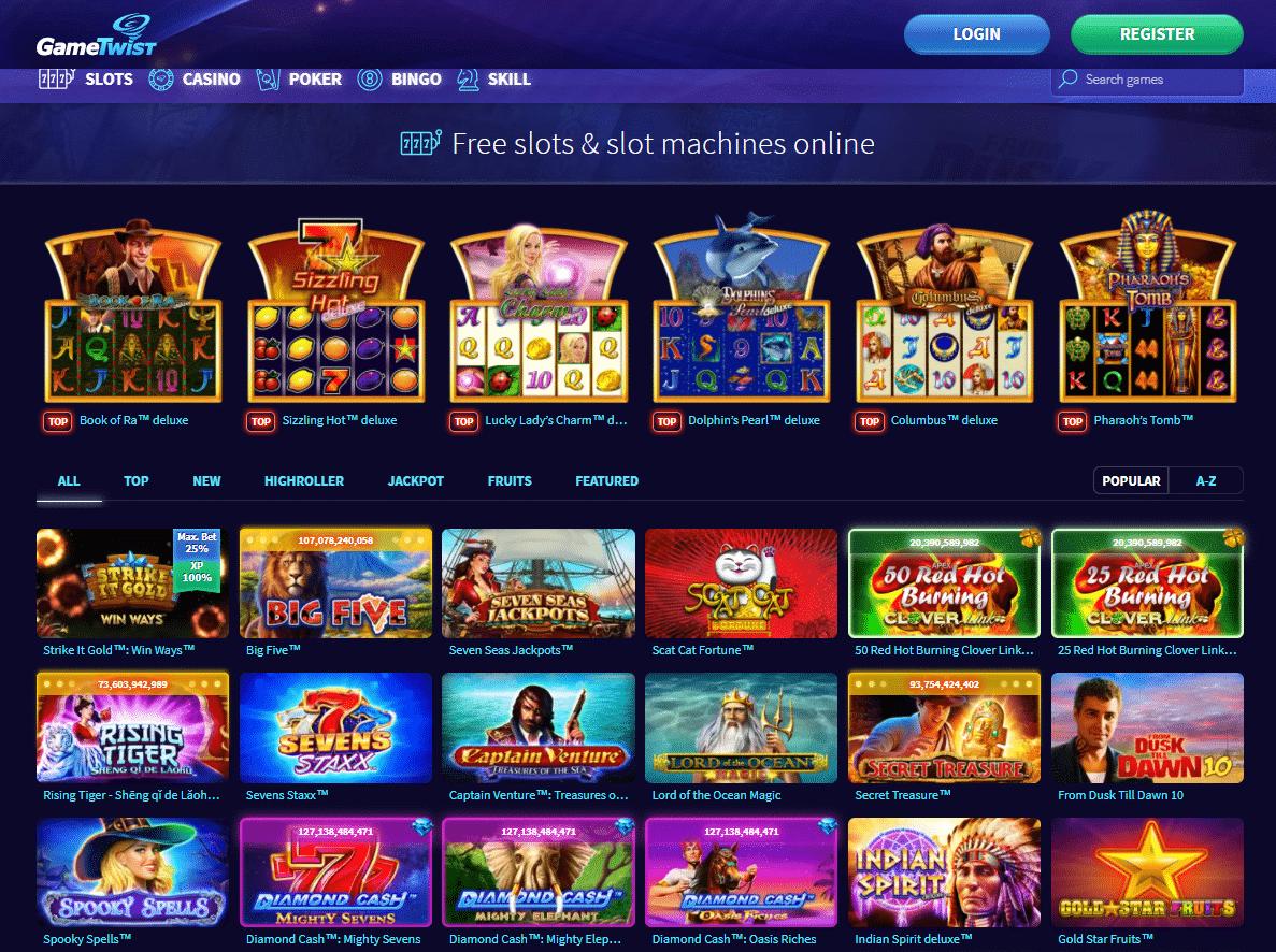 Gametwist Slot e Giochi