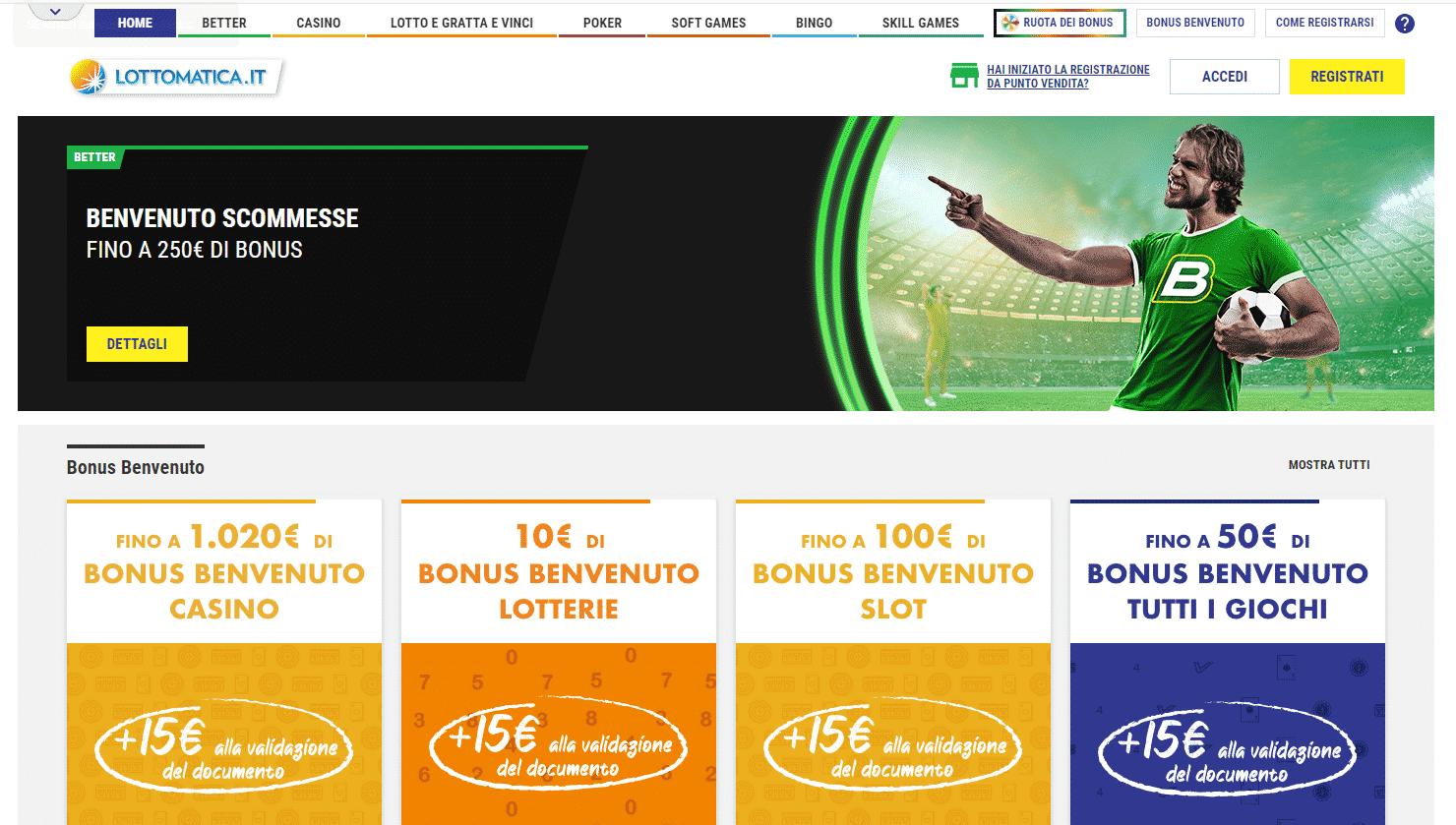 I bonus di Lottomatica