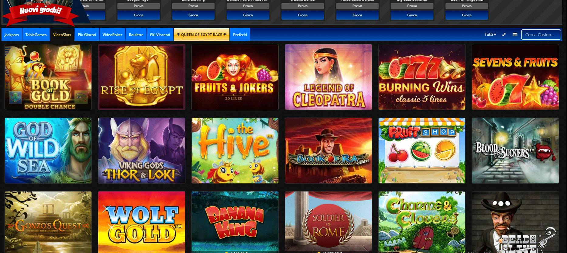 Overplus slot e giochi casino