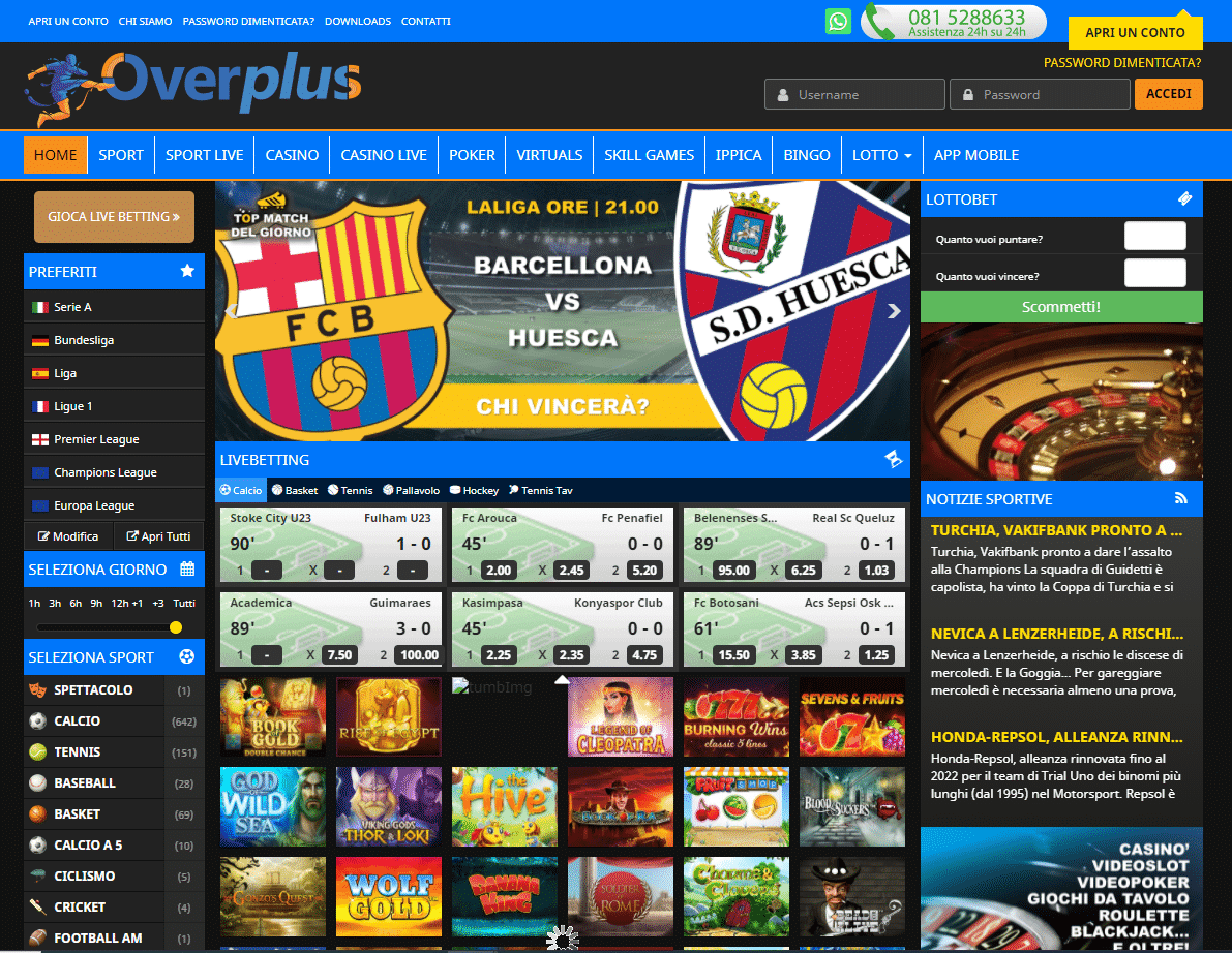 Overplus Homepage