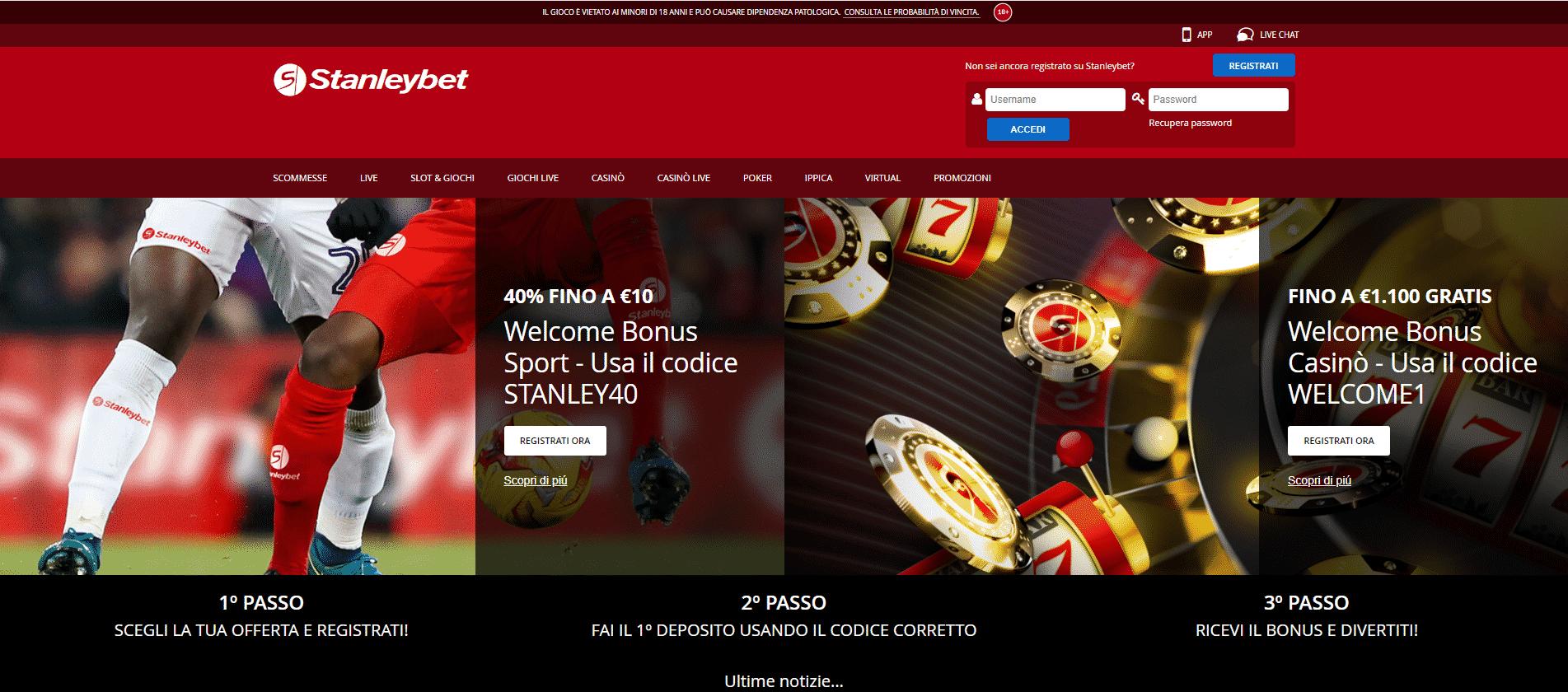 Stanleybet Homepage